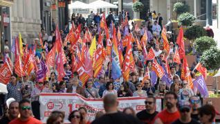 Manifestación en Teruel por el Día del Trabajador
