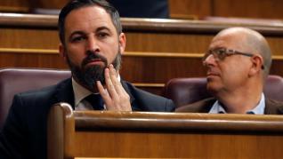 Vox se sienta en los asientos del PSOE en el Congreso