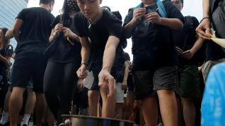 Masiva manifestación en Hong Kong