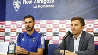 Presentación de Pichu Atienza con el Real Zaragoza