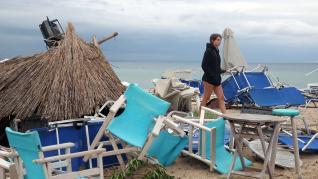 El temporal ha causado numerosos destrozos en la península de Calcídica, en el norte de Grecia.