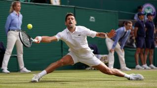 Final de Wimbledon entre Federer y Djokovic.