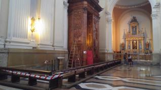 Desplome del portón de la Basílica del Pilar