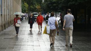 Mañana lluviosa en Zaragoza