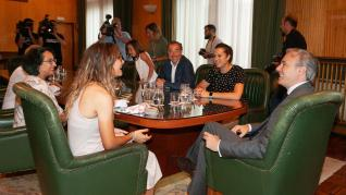 Nerea Langa recibida en el Ayuntamiento de Zaragoza