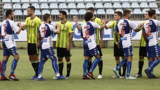 Amistoso entre el Real Zaragoza y el Ebro en la Ciudad Deportiva.