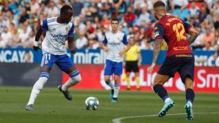 Partido entre el Real Zaragoza y el Extremadura