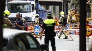 La rotura de una tubería de gas obliga a un corte de tráfico en el centro de Zaragoza