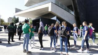Presentación del Open Day de la Liga Femenina de baloncesto en el Caixaforum de Zaragoza