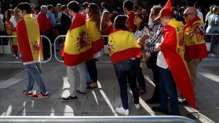 Miles de personas han asistido en Madrid al multitudinario mitin del partido de ultraderecha