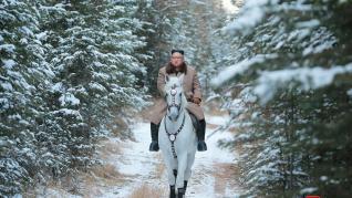 Kim Jong-un, a caballo
