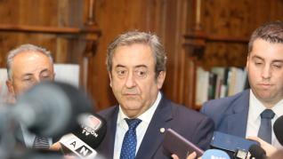 El fiscal del Supremo Javier Zaragoza habla en Huesca del juicio del 'procés'.