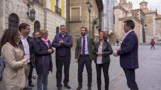 El presidente del PP, Pablo Casado, en su visita este miércoles 23 de octubre a Teruel