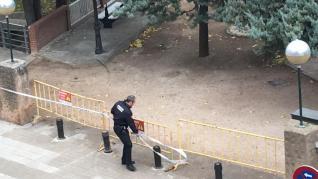 El viento ha obligado a cerrar los parques de Huesca