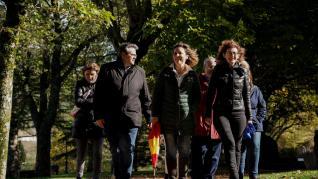 Maite Pagazaurtundua visita Jaca con la candidata de Huesca al Congreso Lourdes Guillén.