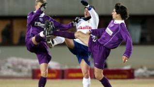 David Villa, en su paso por el Real Zaragoza.