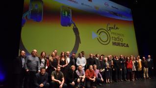 Música y humor en la gala de los Premios Radio Huesca