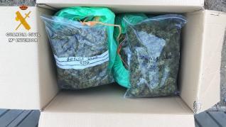 Intervienen 8,5 kilos de marihuana en la provincia de Huesca