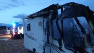 Incendio en una caravana en Teruel