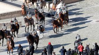 Rodaje de la serie 'El Cid' en el Palacio de la Aljafería