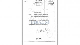 Documentos del Departamento de Guerra de Estados Unidos del oro nazi en Canfranc