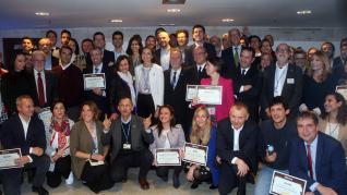 Foto de familia de los premiados en la Cumbre del Clima en Madrid