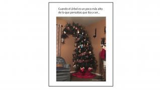 Memes sobre la decoración navideña.