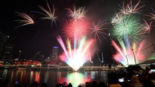 Nochevieja en Sídney (Australia).