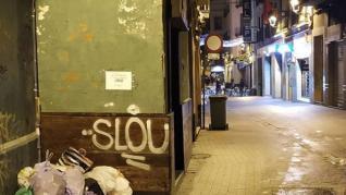 """""""El rincón más feo de Zaragoza"""", en la calle de Contamina."""