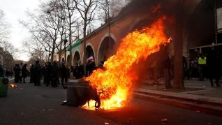 Incidentes en la manifestación contra la reforma de las pensiones en París