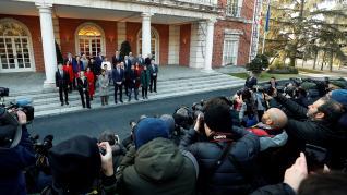 Primer Consejo de Ministros del nuevo Gobierno de coalición.