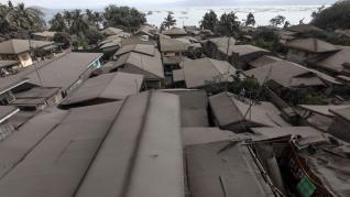 Erupciones del volcán Taal en Filipinas