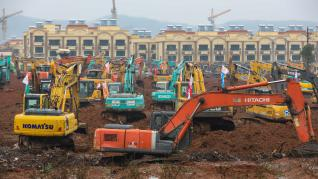 China construye un hospital para el coronavirus