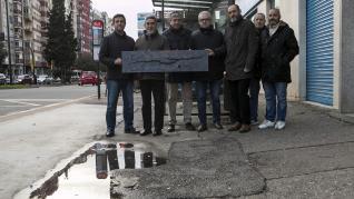 Deterioro de la avenida de Navarra.