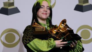 Billie Eilish, en los Premios Grammy.