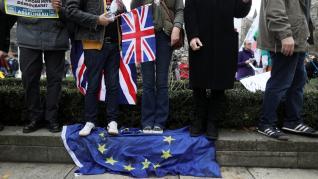 Celebración en Londres por el 'brexit'.