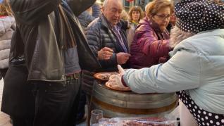 Animación en la de la Candelera en Barbastro celebrada este domingo