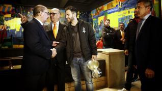 El Gobierno de Aragón homenajea al Club Voleibol Teruel