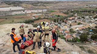 Actuación de los Bomberos de la Diputación de Zaragoza.