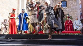 Representacion de la escena de la boda de Isabel de Segura y don pedro de Azagra