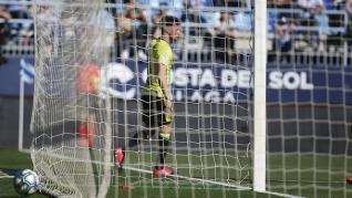 Partido Málaga-Real Zaragoza disputado en el estadio de La Rosaleda