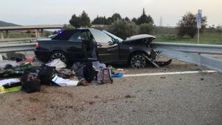 Un coche se salta un control en Canfranc y se da a la fuga durante 70 km hasta Nueno
