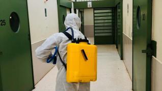 UME desinfecta la prisión de Zuera y los CIS de Huesca.