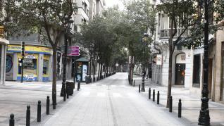Atípica misa de Domingo de Ramos en el Pilar y calles vacías en los alrededores.