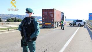 Controles de la Guardia Civil en Aragón