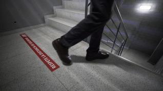 Medidas de prevención de contagios en el edificio de oficinas WTC Zaragoza.