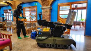 El Ejército estrena el robot Atila en la residencia de Yéqueda