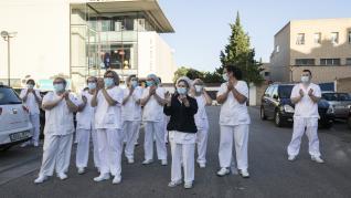 Último aplauso sanitario en Zaragoza.