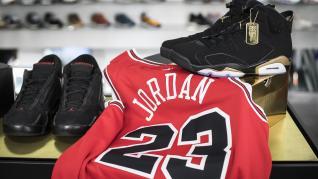 Diversos modelos de las zapatillas Air Jordan.