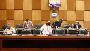 Una imagen del pleno celebrado esta mañana en el Ayuntamiento de Zaragoza, durante la Comisión de Urbanismo.